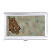 Brown Cowboy Boots Custom Business Card Holder