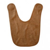 Brown Cowhide Leather Texture Look Baby Bib