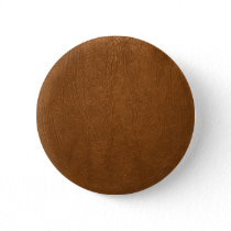 Brown Cowhide Leather Texture Look Button