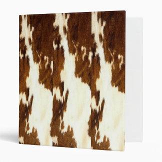 Brown Cowhide Print - Avery Binder