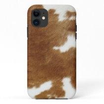 Brown Cowhide Print iPhone 11 Case
