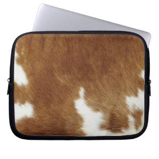 Brown Cowhide Print Laptop Sleeve