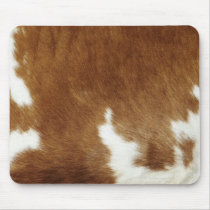 Brown Cowhide Print Mouse Pad