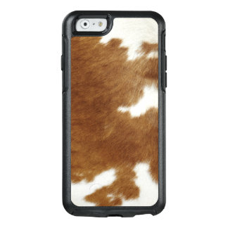 Brown Cowhide Print OtterBox iPhone 6/6s Case