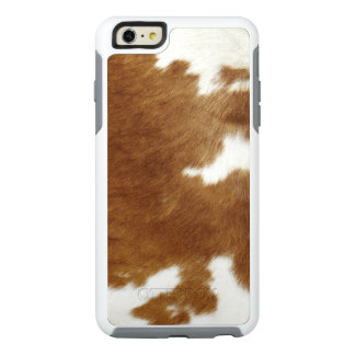 Brown Cowhide Print OtterBox iPhone 6/6s Plus Case