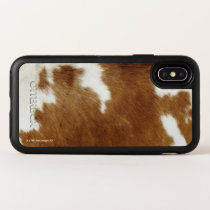 Brown Cowhide Print OtterBox Symmetry iPhone X Case
