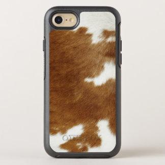 Brown Cowhide Print OtterBox Symmetry iPhone 7 Case