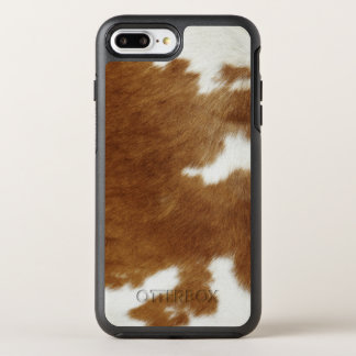 Brown Cowhide Print OtterBox Symmetry iPhone 8 Plus/7 Plus Case