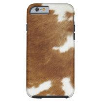 Brown Cowhide Print Tough iPhone 6 Case