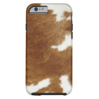 Brown Cowhide Print Tough iPhone 6 Case