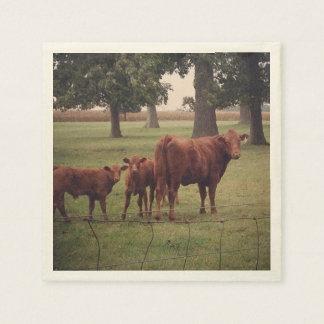 Brown Cows, Green Pastures Napkin