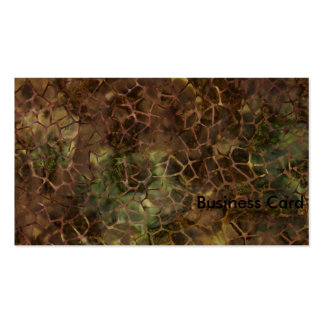 Brown Crackle Business Cards