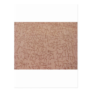 Brown Crackle Fabric Art Postcard