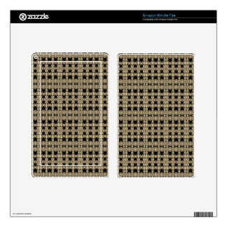 Brown Cream Aztec Design Skins For Kindle Fire