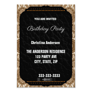 Brown Cream Birthday Card