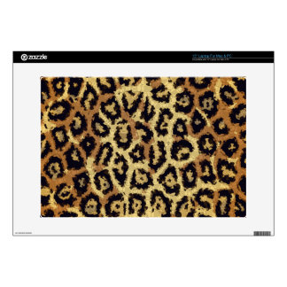 "Brown Cream Cheetah Abstract 15"" Laptop Skin"