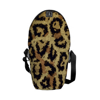 Brown Cream Cheetah Abstract Courier Bag