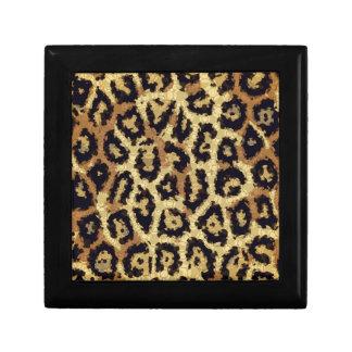 Brown Cream Cheetah Abstract Gift Box