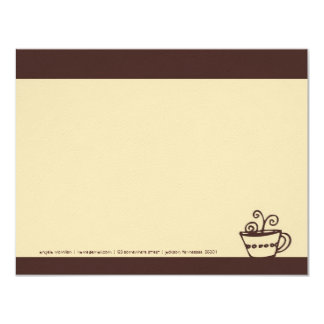 Brown & Cream Coffee Cup Note Cards