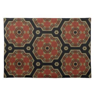 Brown, Cream Retro Dots Art Seamless Pattern Cloth Placemat