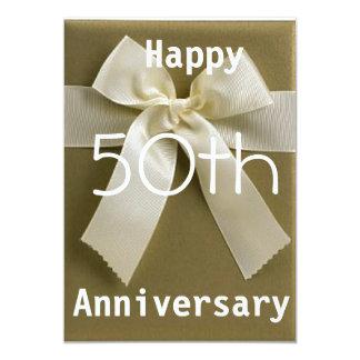 """Brown Cream Wedding Anniversary invite 5"""" X 7"""" Invitation Card"""
