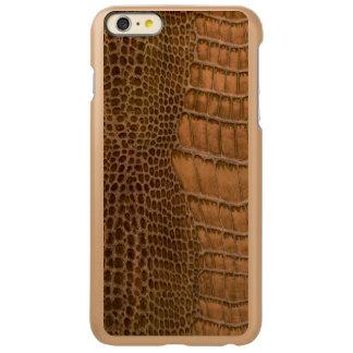 Brown Crocodile Imitation Faux Vegan Animal Print Incipio Feather® Shine iPhone 6 Plus Case