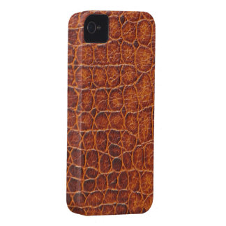 Brown Crocodile Skin iPhone 4 4s Barely There Case