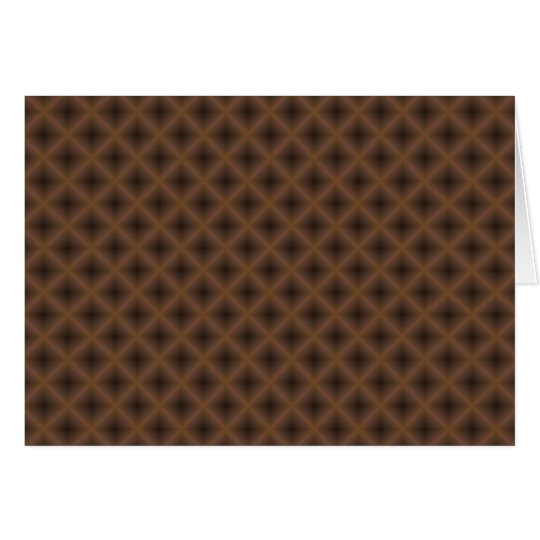 brown crossed-hatch abstract card