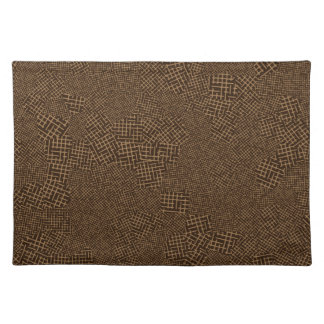 Brown Crosshatch Pattern Placemat