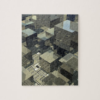 Brown Cubes On Motherboard Jigsaw Puzzle