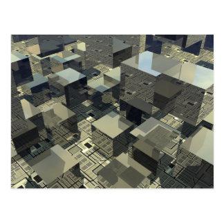 Brown Cubes On Motherboard Postcard