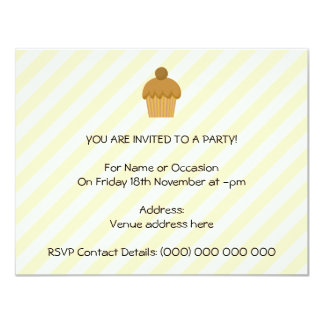 Brown Cupcake. 4.25x5.5 Paper Invitation Card