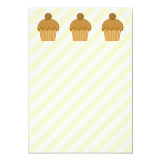 Brown Cupcake. 5x7 Paper Invitation Card