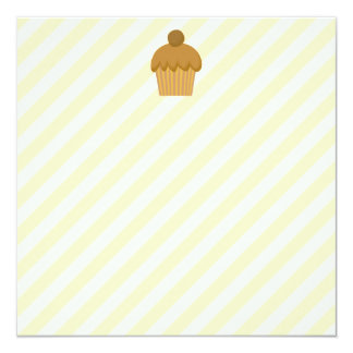 Brown Cupcake. 5.25x5.25 Square Paper Invitation Card