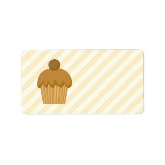 Brown Cupcake. Label