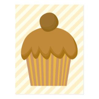 Brown Cupcake. Postcard
