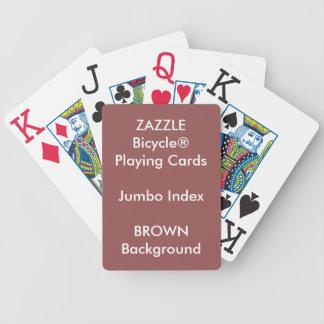 BROWN Custom Bicycle® Jumbo Index Playing Cards