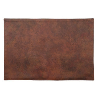Brown Custom Grunge Leather Texture Cloth Placemat