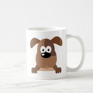 Brown Cute Puppy Classic White Coffee Mug