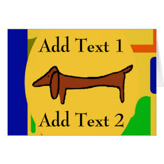 Brown Dachshund Abstract Dogs Card
