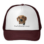 Brown Dachshund Pup Mesh Hats