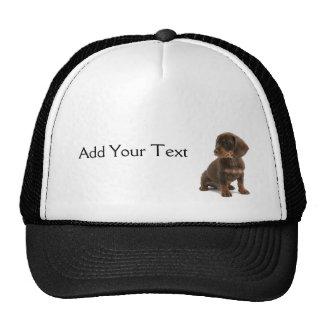 Brown Dachshund Puppy Cap Trucker Hat