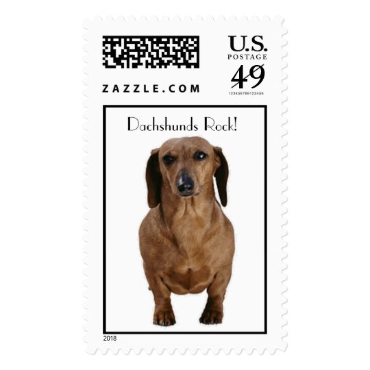 Brown Dachshund Stamps