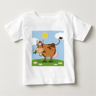 Brown Dairy Cow Baby T-Shirt
