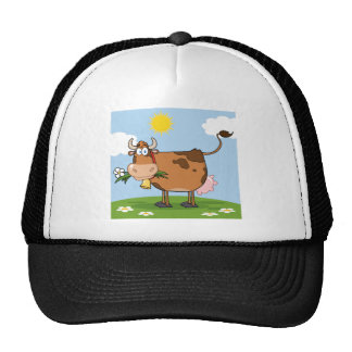 Brown Dairy Cow Trucker Hat