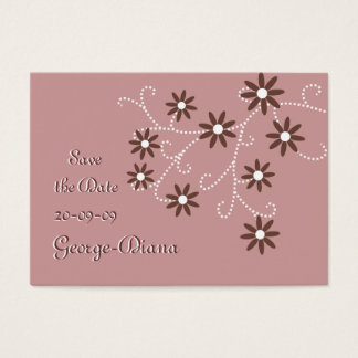 Brown Daisies Affordable Save the Date Cards
