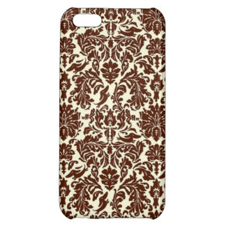Brown Damask Hidden DOXIES Cover For iPhone 5C