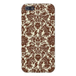 Brown Damask Hidden DOXIES iPhone 5 Cases