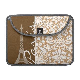 Brown Damask; Paris Sleeves For MacBooks