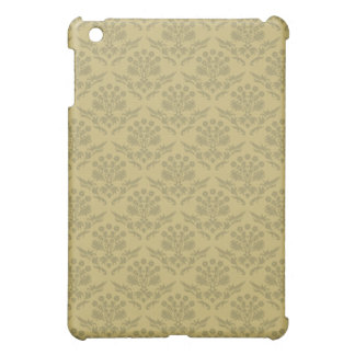Brown Damask Patterned Cover iPad Mini Cover